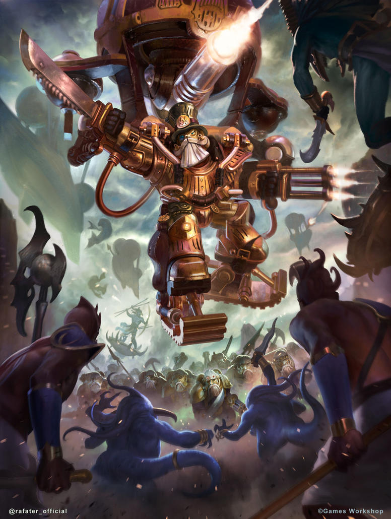 Brock Grungsson - Kharandon Overlords - Warhammer by rafater