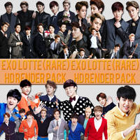 EXO LOTTE (RARE) HD RENDER PACK~ by GiosylZhang