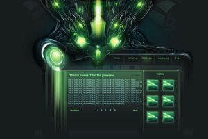 Crystal tech interface by AREA01