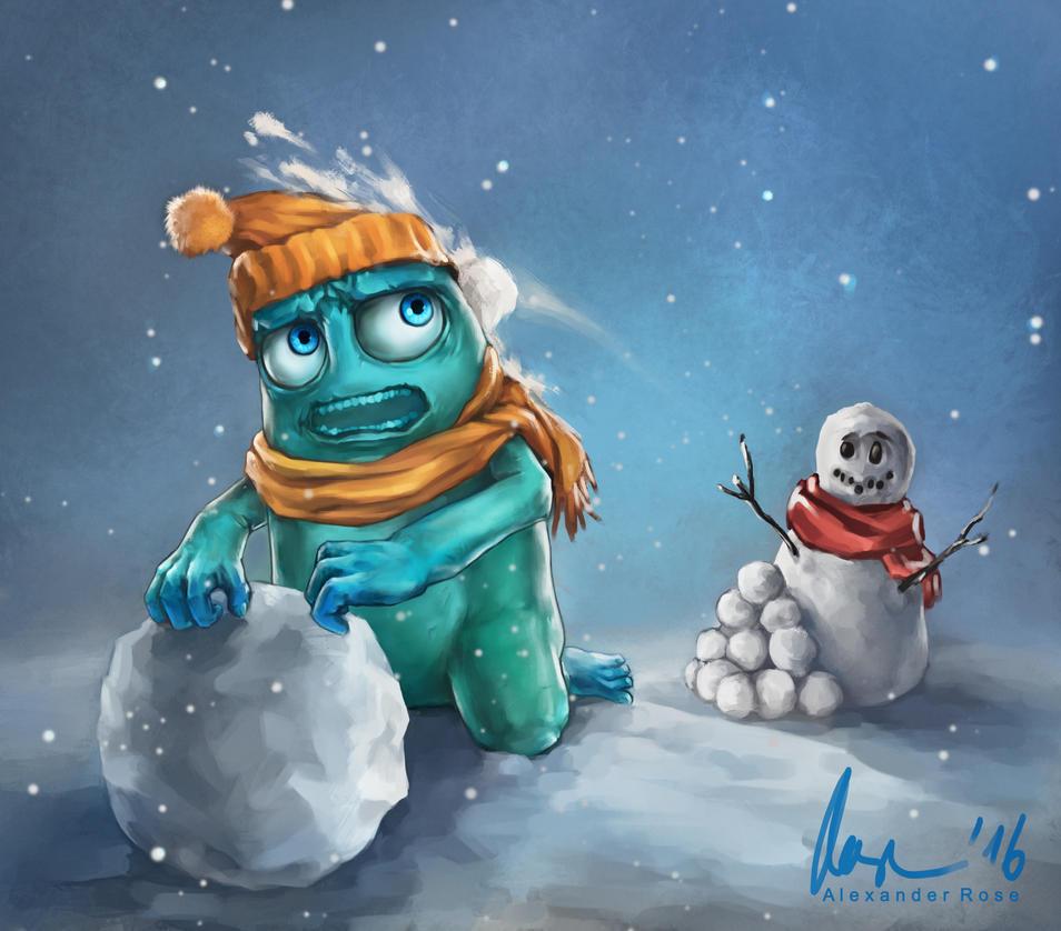Snowball Surprise by MrBonecracker