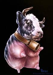 minimalistic cow