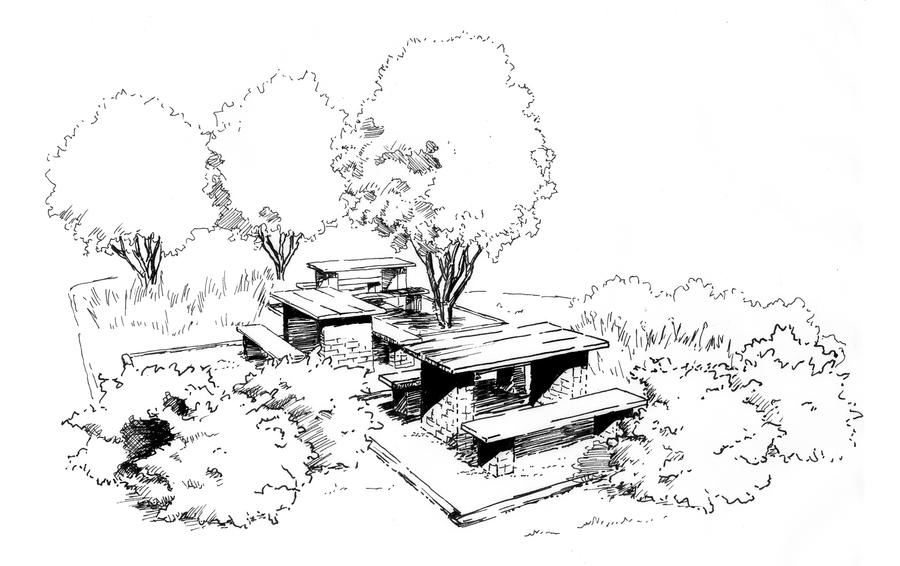 Landscape Architecture Perspective Drawings landscape architecture perspective drawings mall denver co