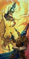 Seraphon Slann vs Gaunt Summoner and Archaon by LucasParolin