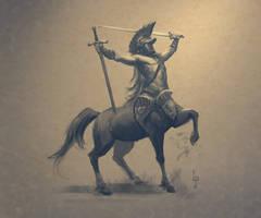 Centaur Sketch by LucasParolin