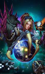 StarCraft II Copa America - Poster by LucasParolin