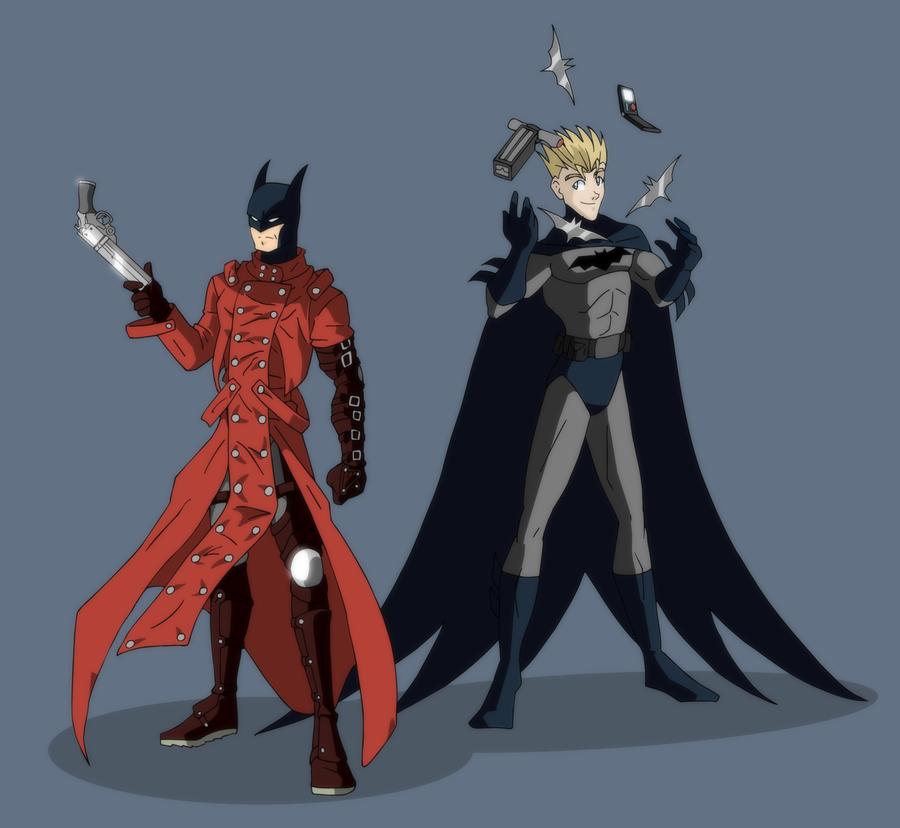 Fibda_Cosplay__Batman_and_Vash_by_Draego