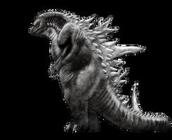 Unused Godzilla design by vcubestudios