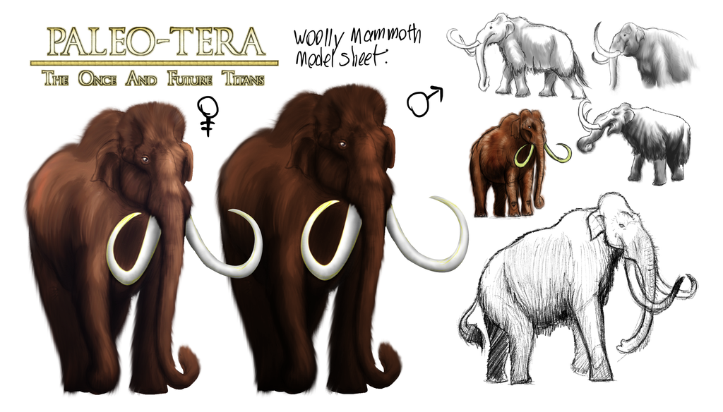 Paleo-Tera: Mammoth Model Sheet by vcubestudios