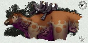 Paleo-Art: Hadrosaur-Peckers