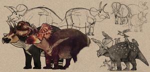 Paleo-Art: Triceratops Dump