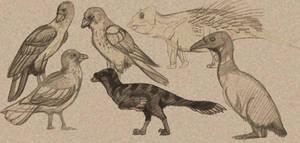 Paleo-Art: Hell Creek Critters Dump