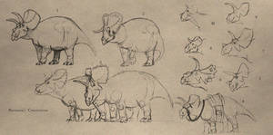 TMHOTW: Palkragar Ceratopsians by vcubestudios
