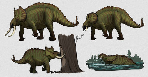 Commission: Cambramosaurus by vcubestudios