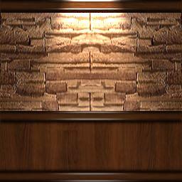 Dark Brown Wood Wall W Half Stone By Odessykat On Deviantart