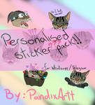 Personalised sticker pack! by PandixArtt