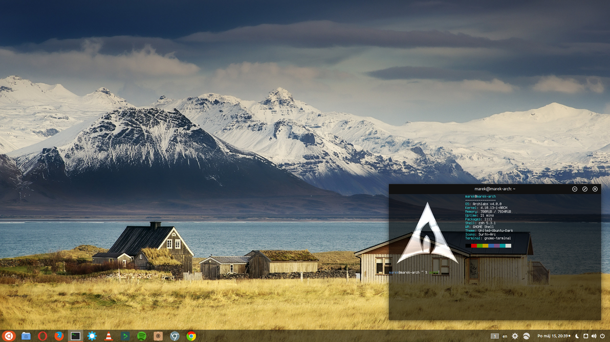 Archlabs GNOME Shell. by VVayne