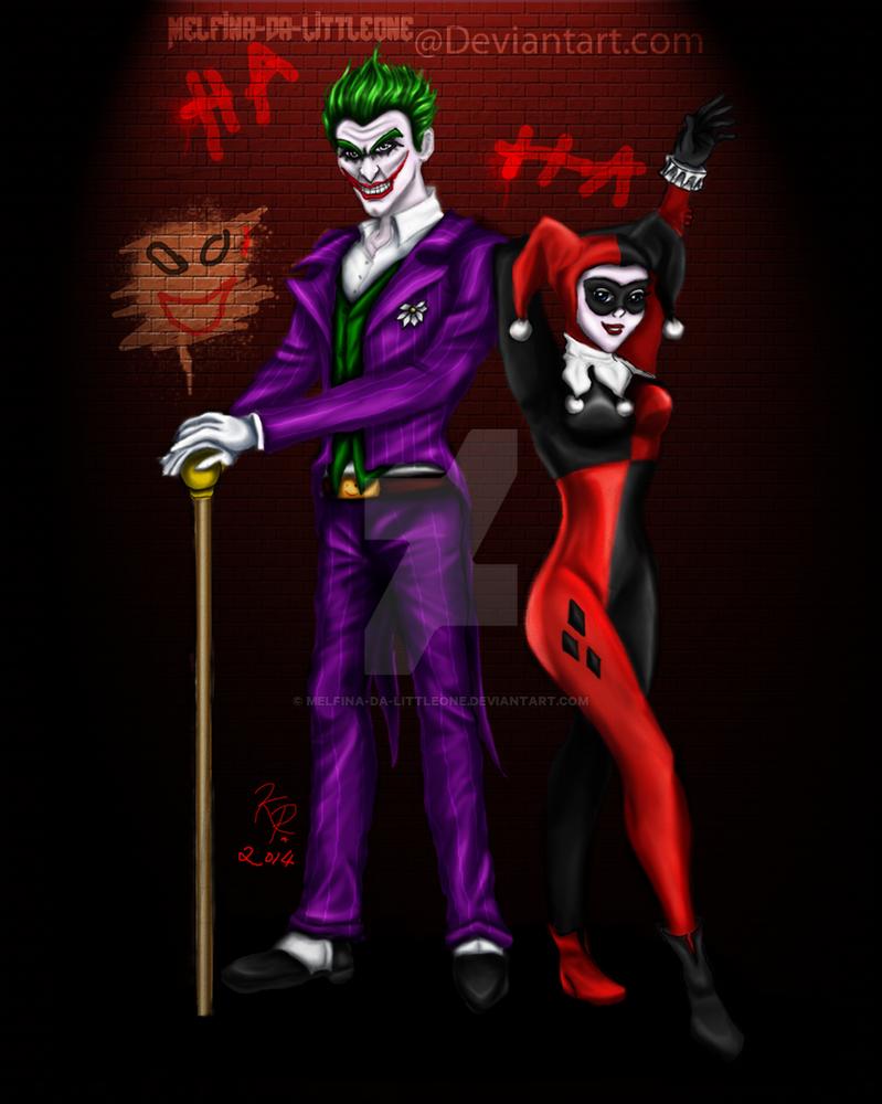 Joker and Harley Quinn by Melfina-da-littleone