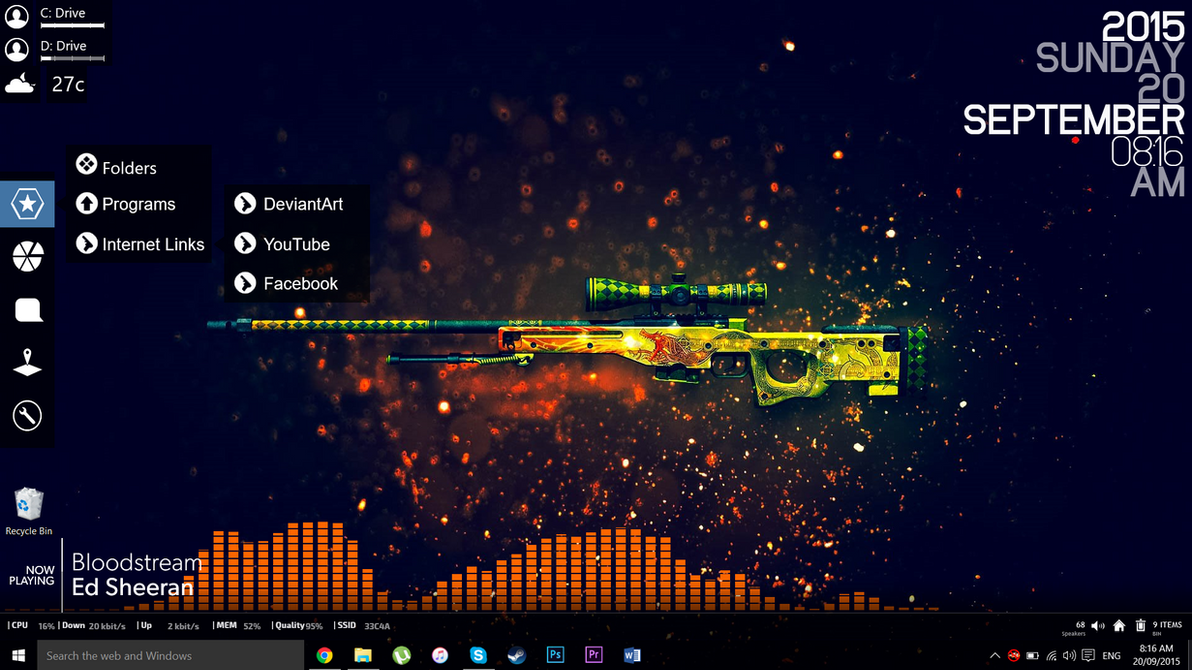 My rainmeter desktop september 2015 by asainguy444 on for Deviantart rainmeter
