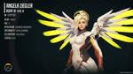 Overwatch Infographic - Angela 'Mercy' Ziegler