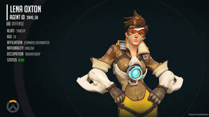 Overwatch Infographic - Lena 'Tracer' Oxton
