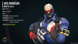 Overwatch Infographic - Jack 'Soldier 76' Morrison