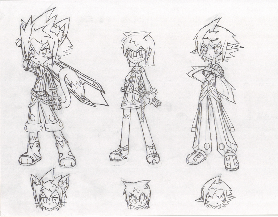 Elsword Next First 3 Character Sketches by SketchSuke on DeviantArt
