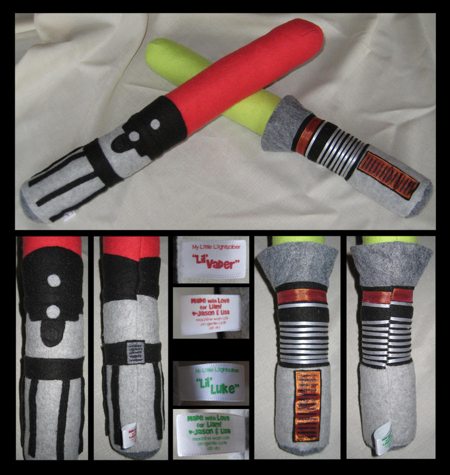 PLUSHIE LIGHTSABERS by GirlNamedEd