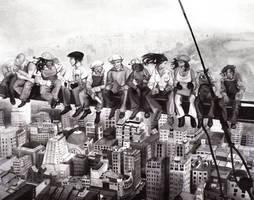 Society Scheming on a Steel Beam by ixris