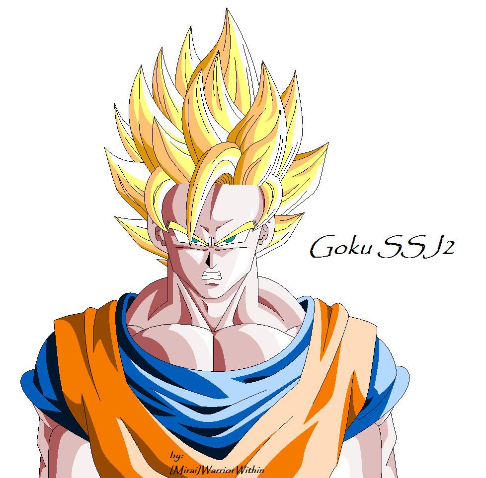 Goku SSJ2 by MiraiWarriorWithin on DeviantArt