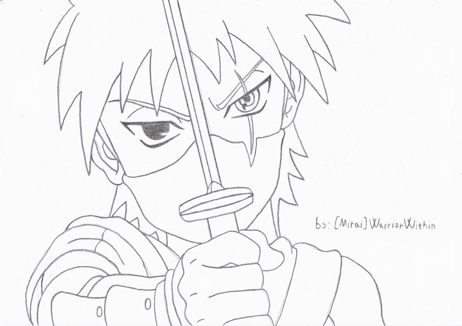 Kakashi Fighting Coloring Pages