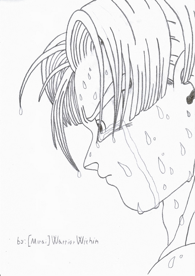 Future Trunks Crying by MiraiWarriorWithin