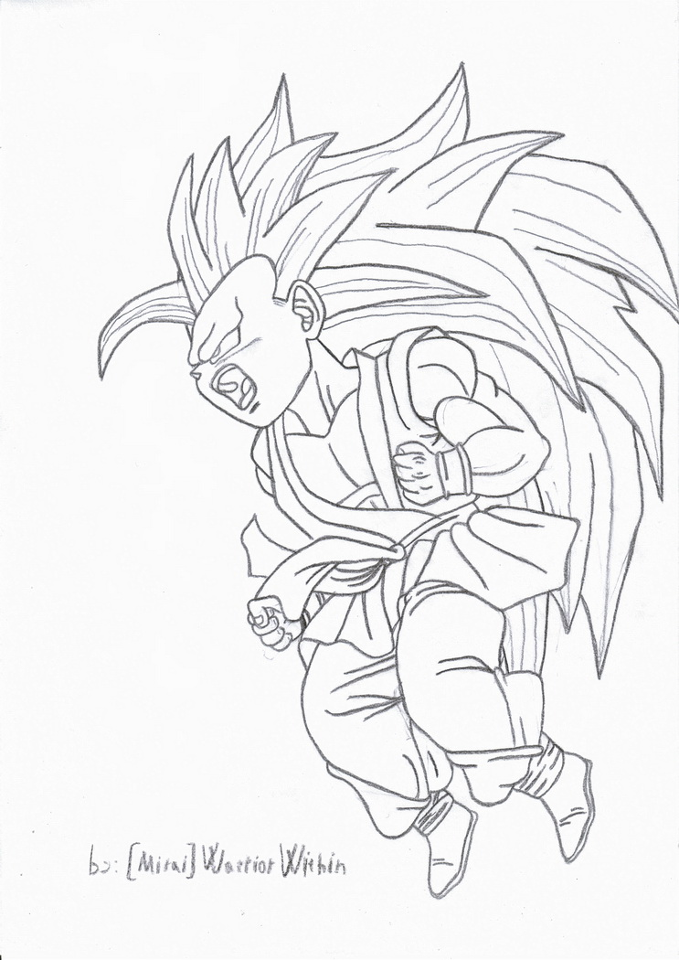 Kid goku transforming ssj3 by miraiwarriorwithin on deviantart for Kid goku coloring pages