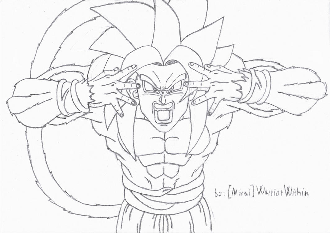 Goku SSJ4 - Solar Flare by MiraiWarriorWithin on DeviantArt