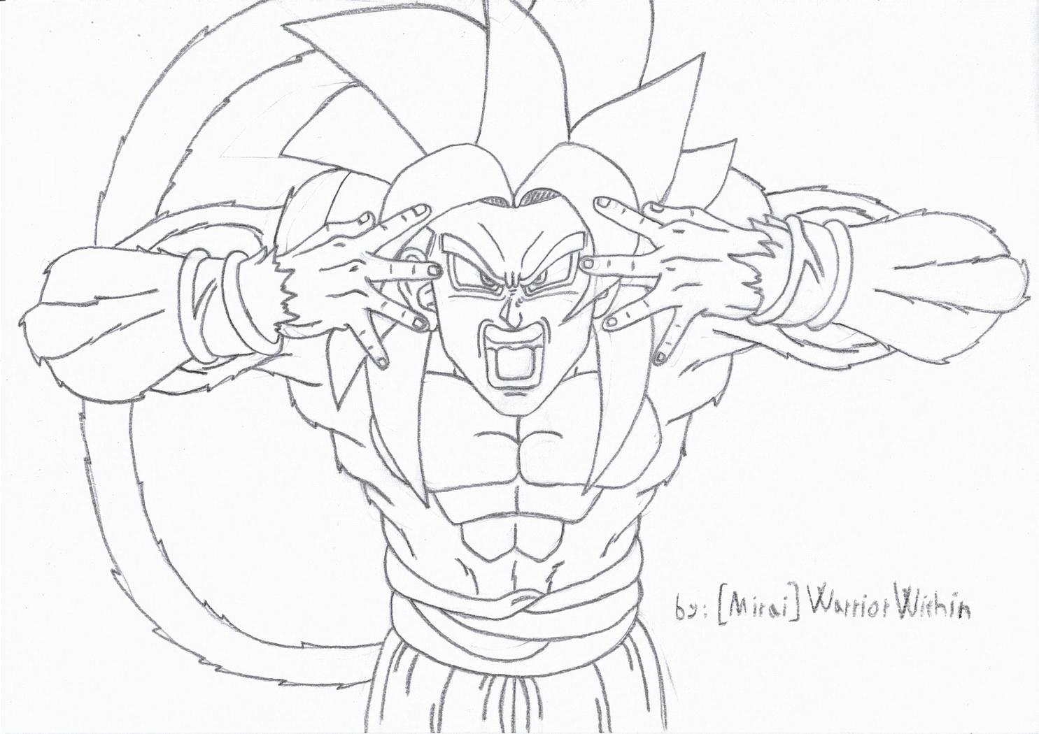how to draw goku gt