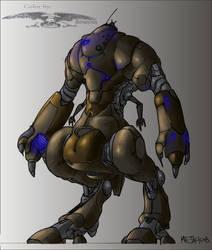Robot_line-By Mr--Jack (Color) by KingRedDark