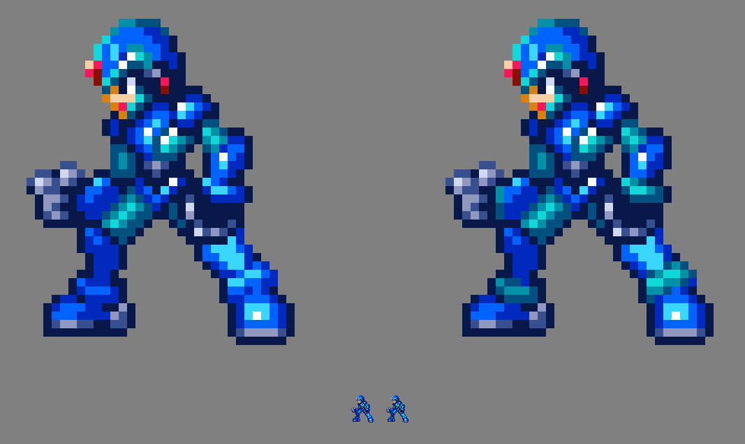 MMZ X with different palettes 2 by MegaManGamer123