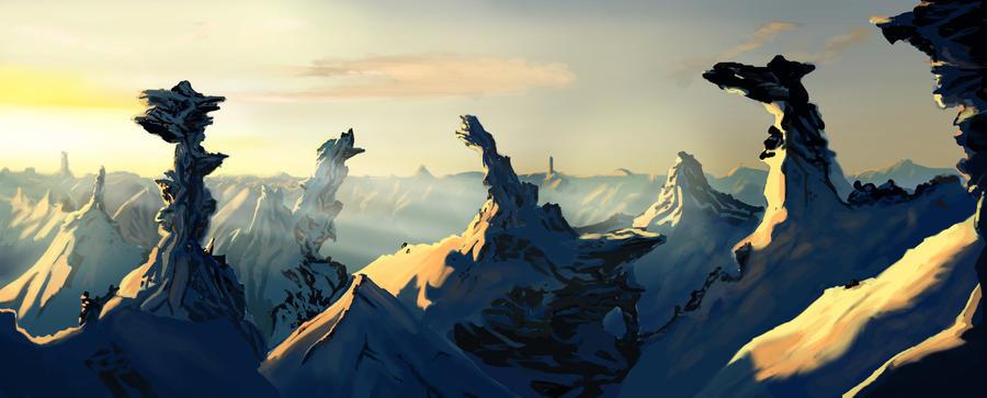 Snowy Mountains by EricaRosie
