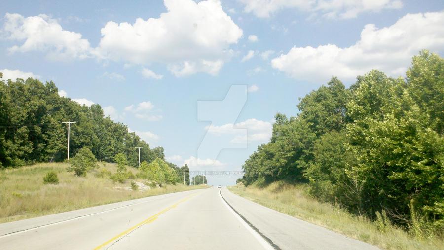 broken road by lostinthenightnature