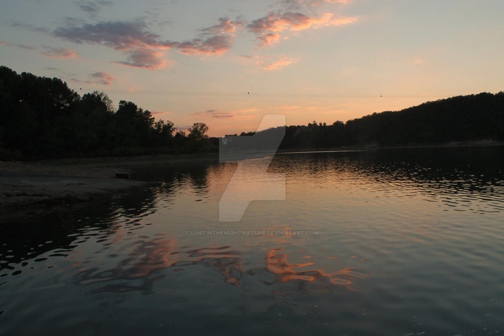 sunset clouds by lostinthenightnature