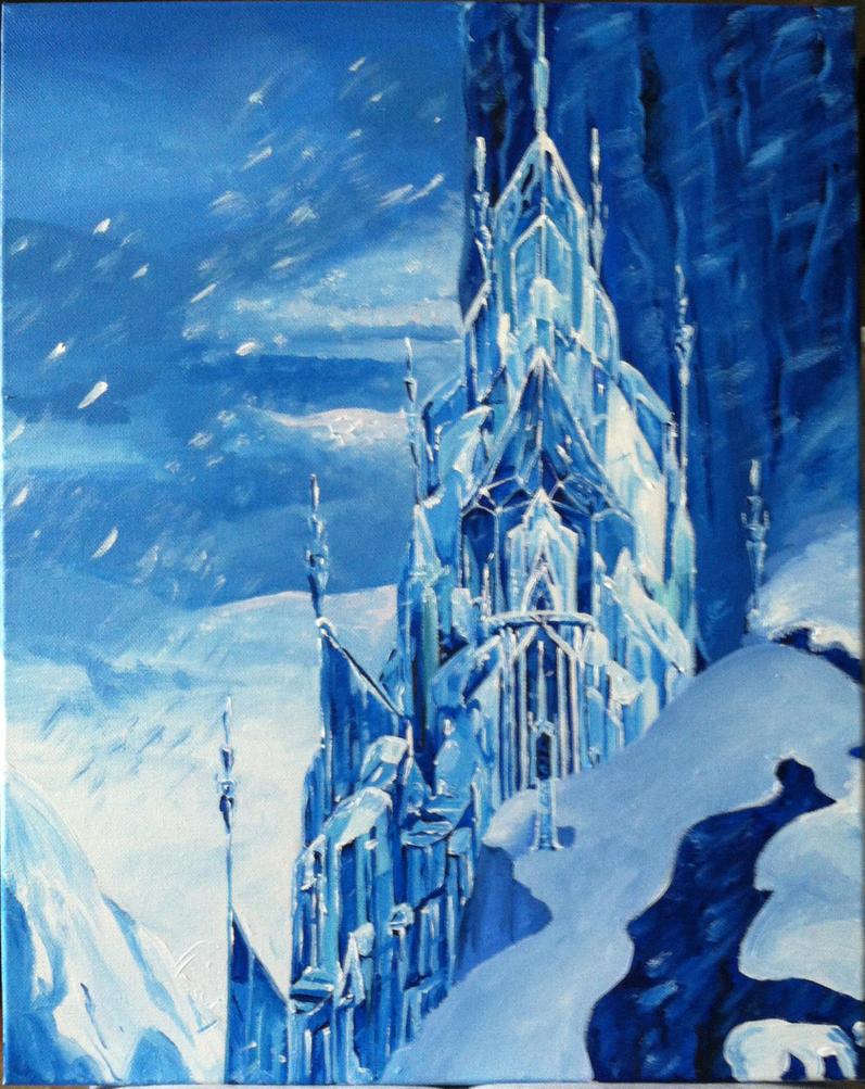 frozen  elsa's castlenightsevera on deviantart