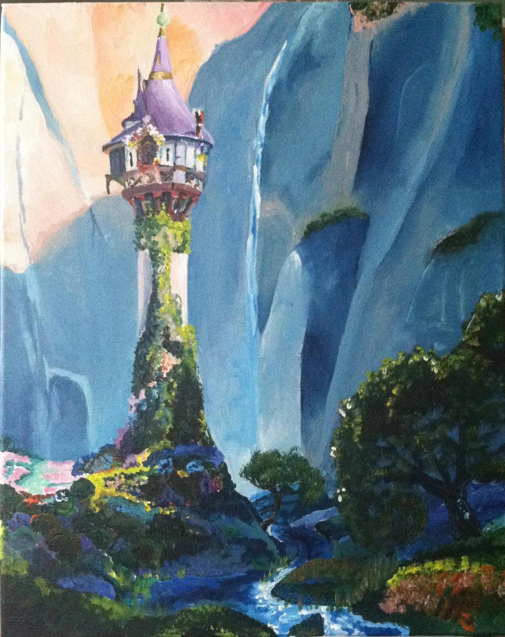 Rapunzel Bedroom Tangled Rapunzel S Tower By Nightsevera On Deviantart