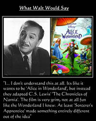 What Walt Would Say#144-AliceInWonderlandRemake by NuvaPrime