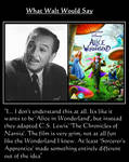 What Walt Would Say#144-AliceInWonderlandRemake