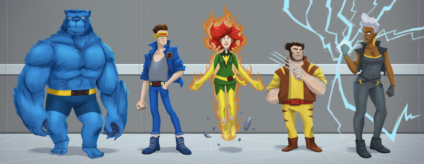 X Men by Robosockmonkey
