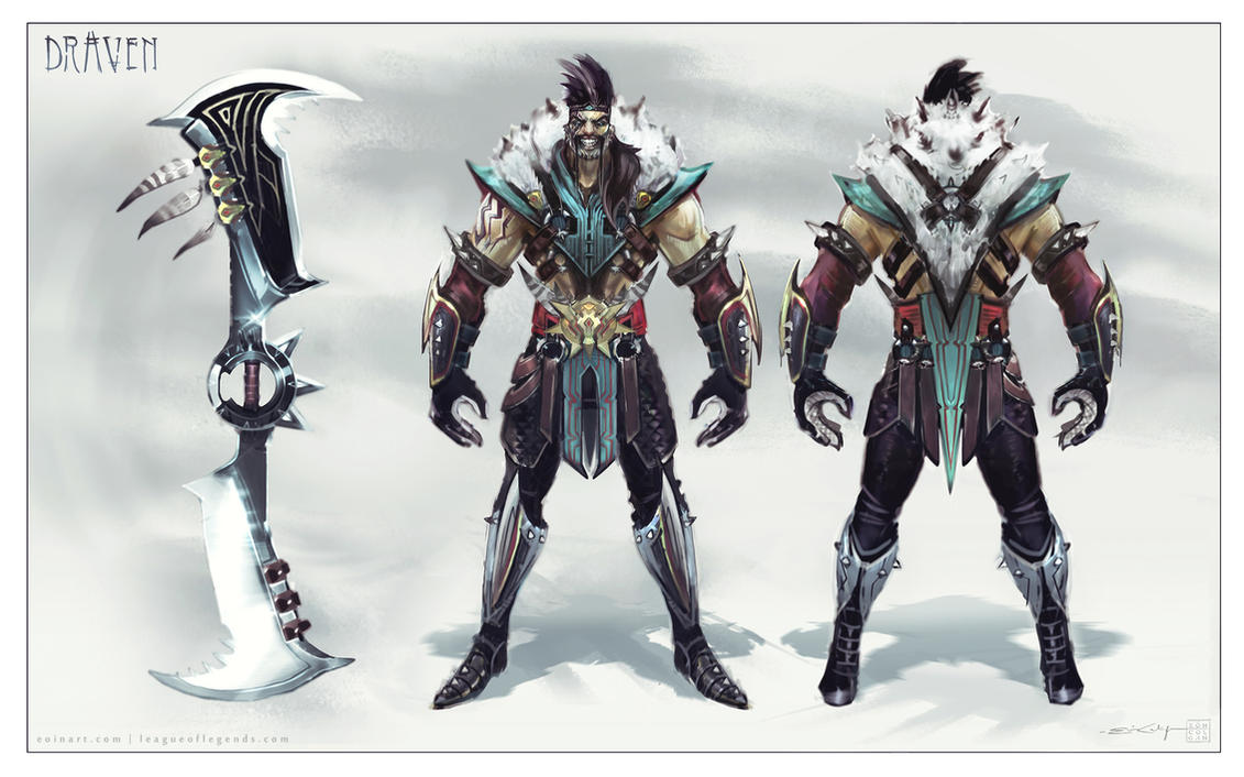 Draven - Final Design by eoinartLeague Of Legends Wallpaper Darius Draven