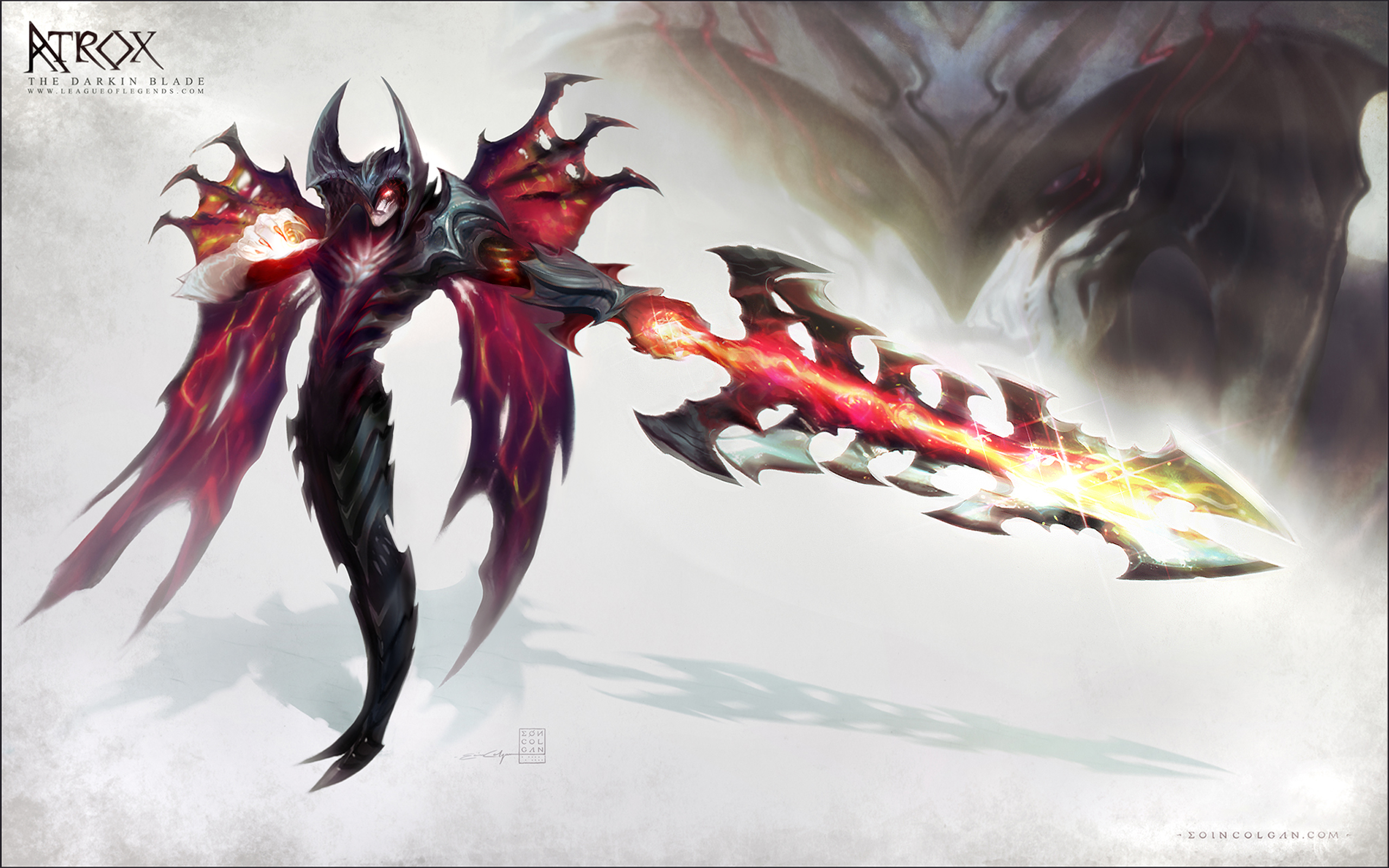 AATROX - DESKTOP BACKGROUND :D by eoinart