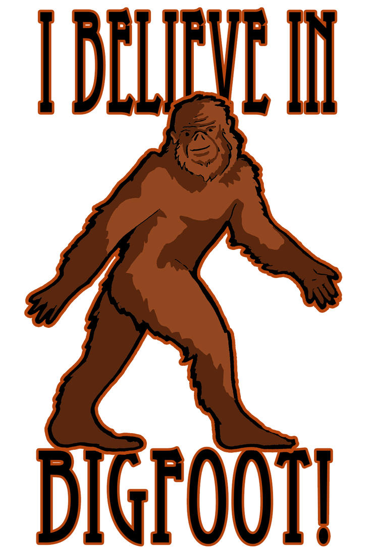 I believe in Bigfoot shirt by jupiterjenny