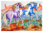 painted ponies watercolor