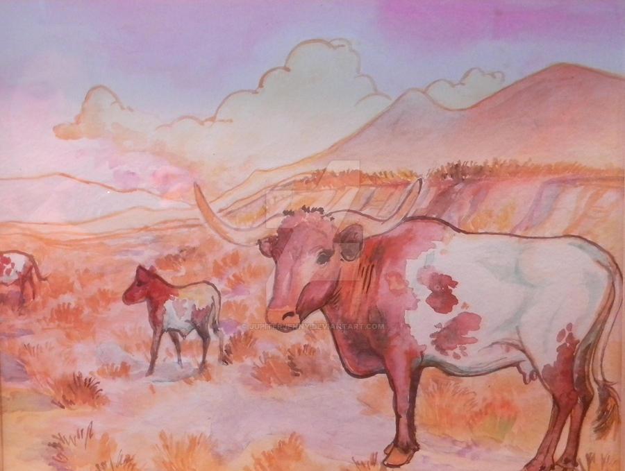 longhorn momma by jupiterjenny