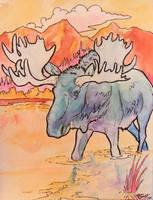 another Moose by jupiterjenny